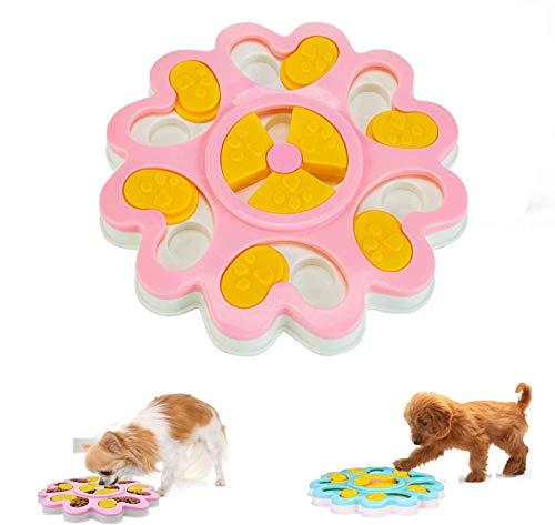 Linseray Hundespielzeug Hund Puzzle Feeder Spielzeug, Hundetraining Game Slow Feeder Futternapf Feeder Toys für Welpen Haustier, Rosa