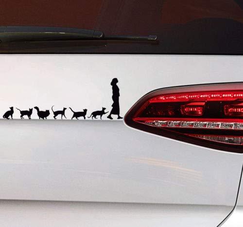 Katzen Lady Sticker Katzen Auto Aufkleber Cat Lady Kittn Kitty Fun Sticker