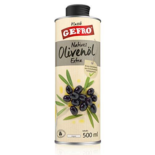 GEFRO Natives Olivenöl Extra aus Griechenland naturbelassen und kaltgepresst (500ml)