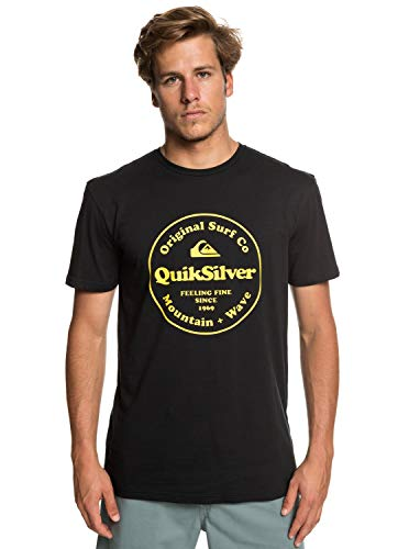 Quiksilver Secret Ingredient T-Shirt, Hombre, Black, M