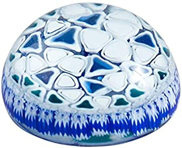YourMurano - Pisapapeles de cristal de Murano, hecho a mano, color azul y blanco, idea de decoración de oficina, marca de origen, Alameda
