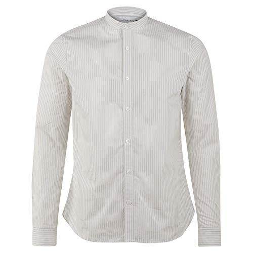 Nowadays Slim-Fit Hemd mit leichtem Streifenmuster Ecru (109 Cloud) L