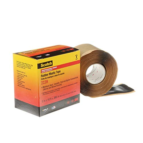 Scotch Rubber Mastic Tape 2228, 2 in x 10 ft (2228-2X10FT)