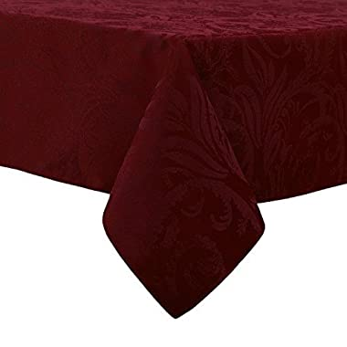 Autumn Wine Damask Scroll Thanksgiving Tablecloth (60 x 84 Rectangle/Oblong)