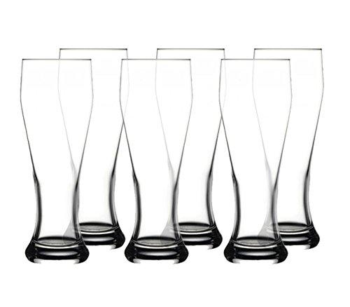 Timmys Glaswaren Weizenbier Gläser, Weizenbier Glas, 6 Stück, 665cc von Pasabahce