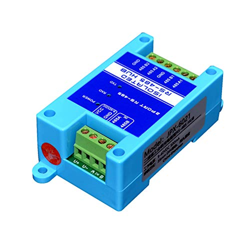 RS485 to 2 Ports RS485 Repeater Optical Isolator Industrial Grade, RS485 hub Signal Amplifier Anti-Interference (RS485 to 2 Ports RS485)