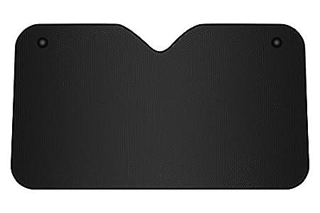 BC Corona INT41110 Parasol de Aluminio Negro Mate con ventosas 130 x 70 cm y Universal