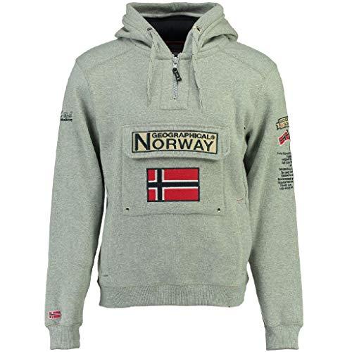 Geographical Norway - Felpa da uomo modello Gymclass Ass A 007 grigio melange M