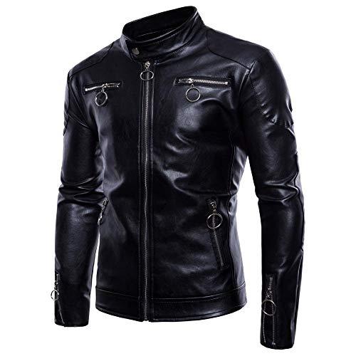 Preisvergleich Produktbild WEDGFG Herrenjacke Europa und Amerika Außenhandel Große Jacke Schwarze Jacke - Schwarz_4XL