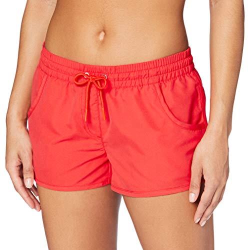 ESPRIT Bodywear Damen Badeshorts Havana Beach Acc Woven Short, Orange (Coral Orange 870), L
