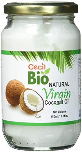 Cecil Bio - Aceite de coco virgen natural, 350 ml (pack de 3)