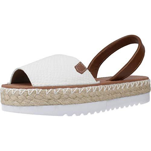 MENORQUINAS POPA Damen Sandalen Sandaletten 31604P Weiß 40 EU