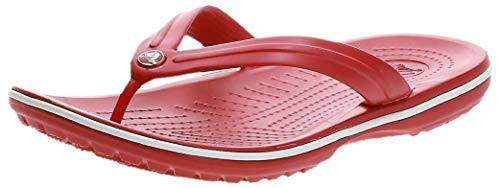 Crocs Unisex Crocband Flip, Pepper/White, 37/38 EU