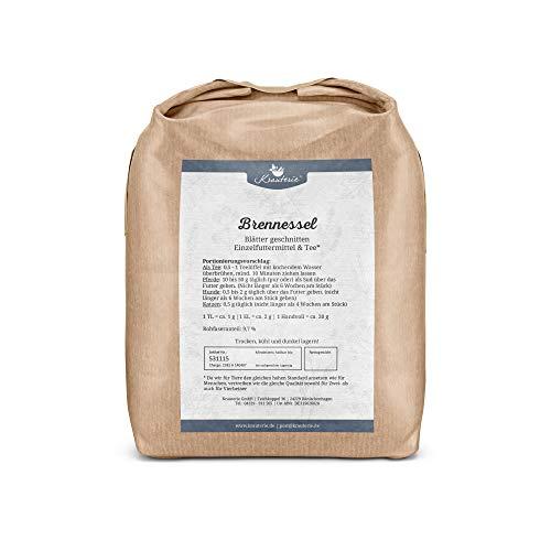 Krauterie Brennessel-Blätter in hochwertiger Qualität, frei von jeglichen Zusätzen, für Pferde und Hunde (Urtica urens) – 1000 g