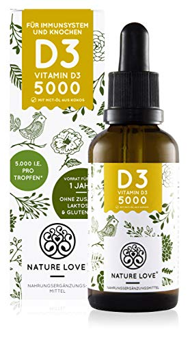 NATURE LOVE® Vitamin D3 5000 (50ml...