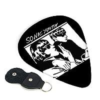 Sonicyouth ソニックユース ギター ピック トライアングル 6枚 滑り止め ピック収納ケース セルロイド製エレキギター/アコースティックギター/ベース用ピック 練習 初心者 0.71mm