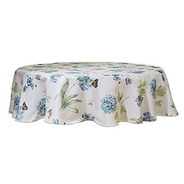 Lenox 7404070RNDBLU Butterfly Meadow Blue 70  Round Tablecloth