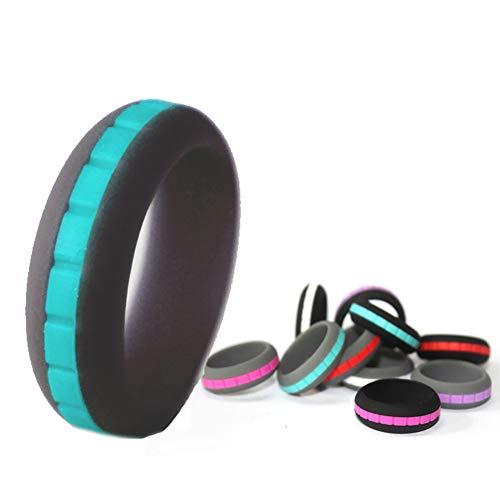 lamta1k Ring, zweifarbig, weiches Silikon, Unisex, für Sport, Party, Paare, Schmuck, Geschenk – 1# US 11