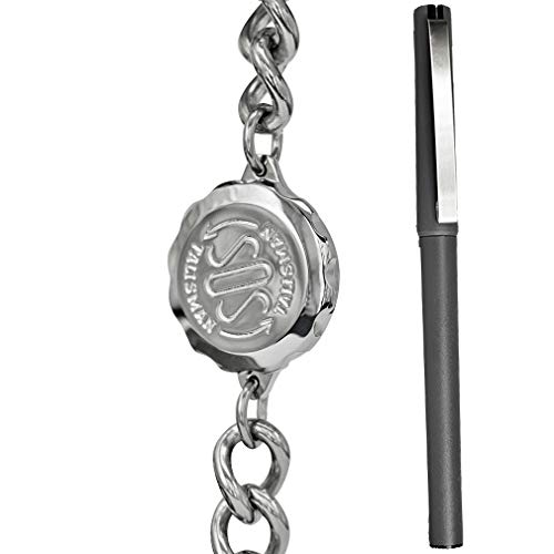 Gents SOS Medical Bracelet & Pen Set. Stainless Steel. Hypoallergenic. For Men. ST13PEN