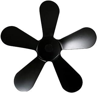 ZHANGLI Fireplace Fan Replacement Blades - Heat Powered Warm Wood Stove Efficient Fireplace Fan Low Noise Winter 5 Blades