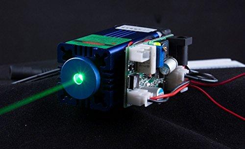 12V TTL Laser Diodo Laser 520nm 50mw Modulo Laser / Laser Cooler - Funzionamento Lunga Durata