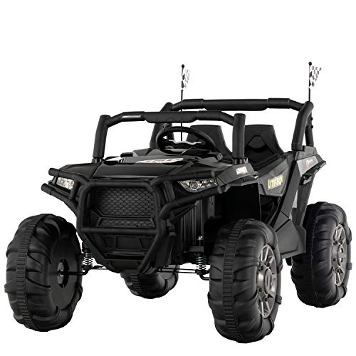 Why Choose Uenjoy 12V Electric Ride on Cars, Realistic Off-Road UTV, Two Seater Ride On Truck, Motor...