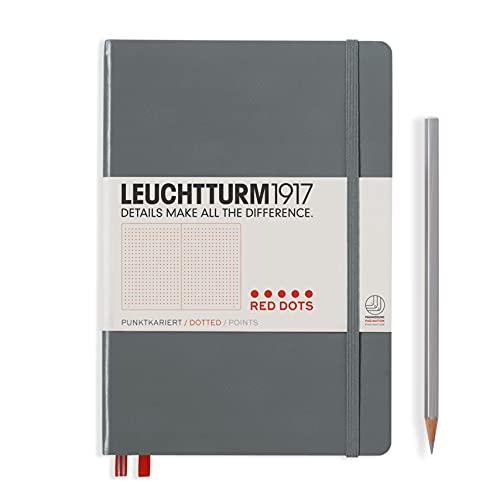 Notebook Medium (A5) de lunares rojos, color antracita