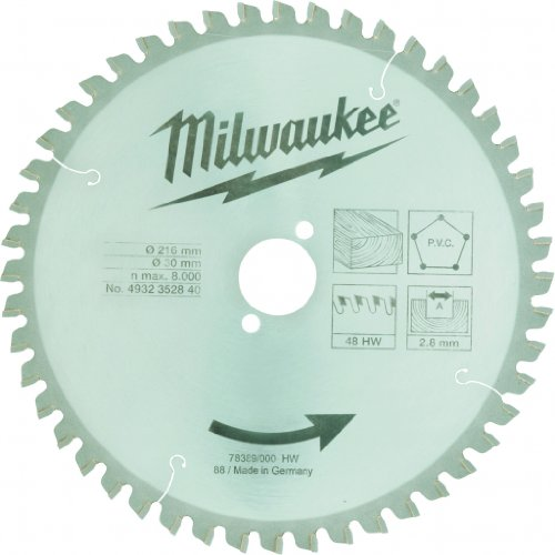 Milwaukee 4932352840 cirkelzaagblad 216/30 mm, 48 tanden