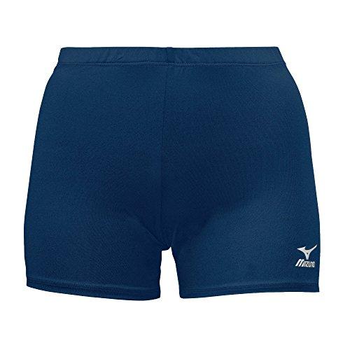 Mizuno Youth Vortex Shorts, Large, Navy