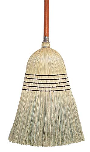 "Wilen E504028, Janitor Corn Blend Broom with 1-1/8"" Handle, 28# Size, 55-1/2"" Length (Case of 6)"