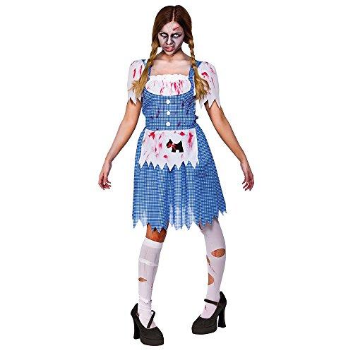 (L) Damen Zombie Country Mädchen Kostüm für Halloween Lebende Tote Kostüm