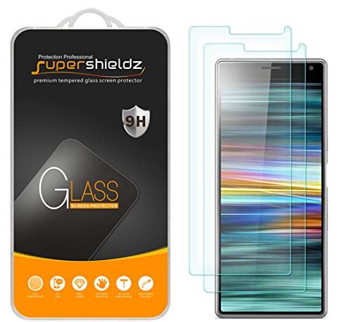 (2 Pack) Supershieldz for Sony Xperia 10 Tempered Glass Screen Protector, Anti Scratch, Bubble Free
