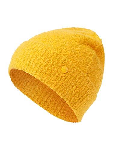 TOM TAILOR für Frauen Accessoire Beanie merigold yellow melange, ONESIZE