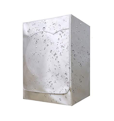 Babitotto - Funda impermeable y resistente al polvo para lavadora, de fibra de poliéster, color plateado a prueba de polvo, lavable y reutilizable