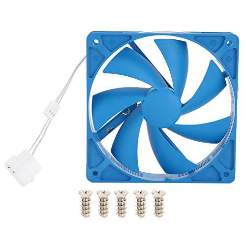 Ventilador de enfriamiento de PC de 12 cm, PBT 1200RPM 12V Ventilador de enfriamiento de PC con Disipador de Calor silencioso Bajo Nivel de Ruido de Aire Periféricos Ventilador de enfriamiento