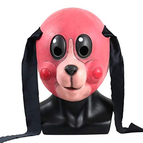 Seasons Shop Máscara de camuflaje de Umbrella Academy, máscara de Hazel Mask de La Umbrella Academy, para Halloween, cosplay, disfraz de película