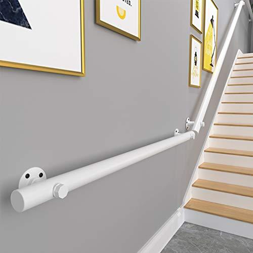 GJIF Barandilla De Escalera De Pino Blanco, Barandilla - Kit Completo, Barandillas De Madera Antideslizantes para Escaleras De Interior, Longitud: 30-400 Cm(Size:150cm)
