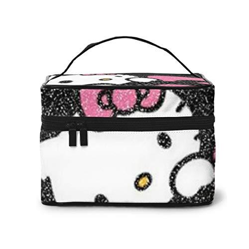 Bolsa de maquillaje, Hello Kitty portátil de viaje, bolsa de cosméticos grande,...