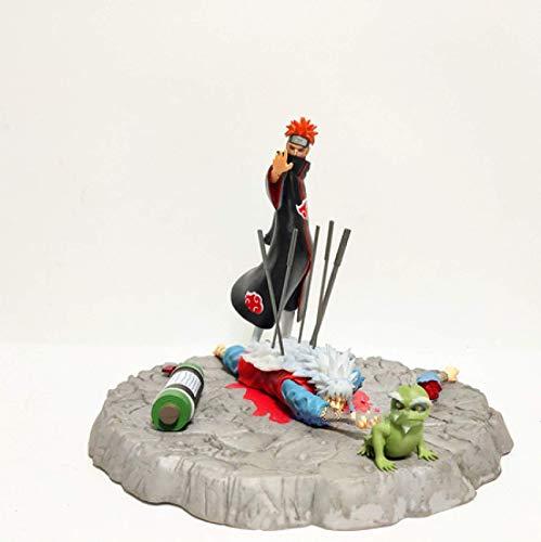 JIANGCJ Hermosa 2 unids Anime Figura Naruto Pain VS Muertos Esferas del Acción Figma Naruto Shippuden Collectable PVC Juguetes de PVC Dolor Estatua Modelo Figura Jianyou