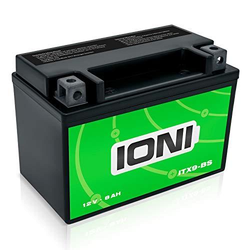 IONI 742390 ITX9-BS 12V 8Ah AGM Compatibile con la Batteria Moto YTX9-BS sigillata/Senza Manutenzione