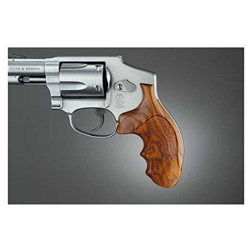 Hogue J Frame Round Butt Coco Bolo Checkered Gun Grips