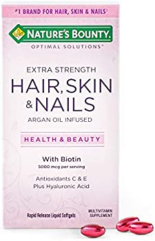 150 Count Nature's Bounty Extra Strength Hair Skin and Nails Vitamins