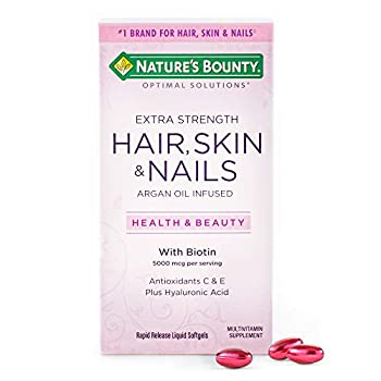 Extra Strength Hair Skin and Nails Vitamins by Nature s Bounty Optimal Solutions with Biotin and Vitamin B Supports Skin and Hair Health 150 Count