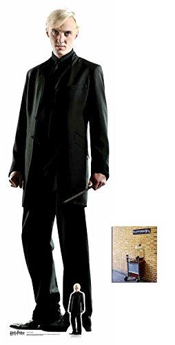 BundleZ-4-FanZ Draco Malfoy (Tom Felton) Harry Potter Lebensgrosse und klein Pappfiguren/Stehplatzinhaber/Aufsteller - Enthält 8X10 (25X20Cm) starfoto
