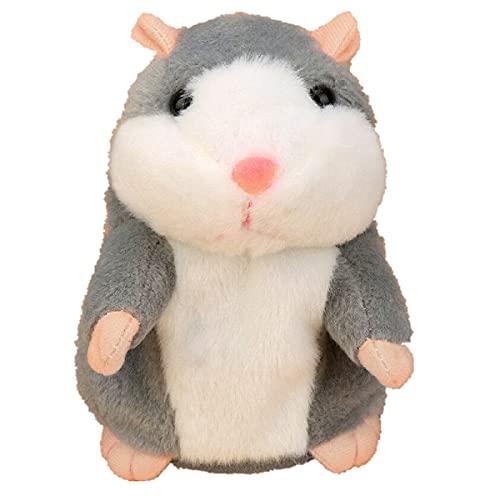 Daodan Sprechender Hamster Plüsch-Spielzeug Wiederholt was Sie Sagen Mimikry Haustier Elektronische Sprechende Aufzeichnung Stofftier Interaktives Spielzeug für Baby Kinder