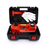 Trihelper Car Jack Hydraulic Jack – 3 Ton Electric Car Jack Stand Three In One Car Jack Kit for Sedans SUV Car Lift Floor Jack for Tire Change and Road Emergencies with Integrated Tire Pump (Orange)