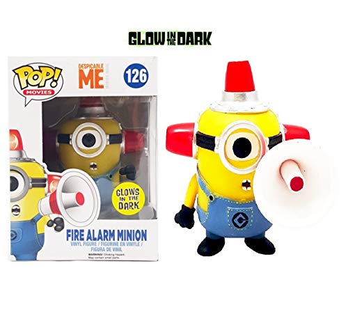 Funko POP Fire Alarm Minion FYE Exclusive Glows In The Dark #126 by FunKo