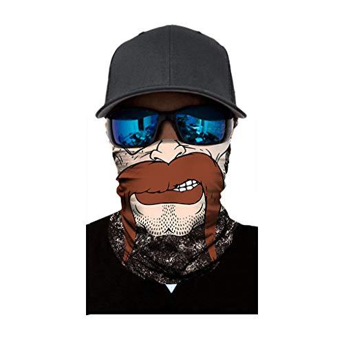 Yowablo Gesichtsbedeckung Voll funktionsfähig Ski Motorrad Halsrohrwärmer Radfahren Biker Schal Wind (1pc,D)