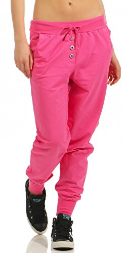 Damen Freizeithose Sporthose Sweat Pants lang (623), Grösse:XL / 42, Farbe:Pink