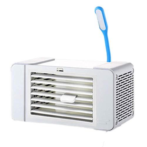 Mini Ventilador USB Led Aire Acondicionado portátil Ventilador de Escritorio Enfriador de Aire Ventilador de Escritorio Enfriador humidificador purificador con lámpara de Mesa USB